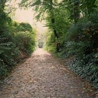 een willekeurig pad in Brussel